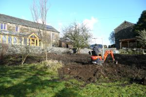 Work begins developing a garden in Woodland valley near Broughton in Furness