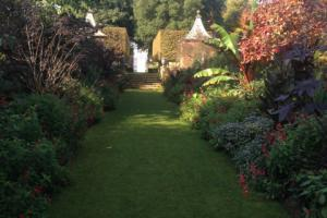 Borders of one lawn at Hidecote House