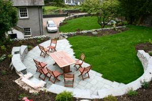 Chapel Style, Langdale, Lake District newly landscaped garden