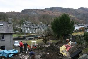 Early stages of the landscaping process at Chapel Style, Langdale