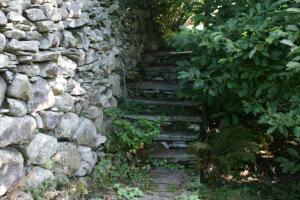 Chapel Style, Langdale, Lake District; some stone steps before the work