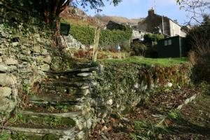Chapel Style, Langdale, Lake District; some stone steps mid way through the work