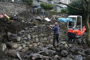 Chapel Style, Langdale, Lake District; our stone waller hard at work