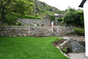 Chapel Style, Langdale, Lake District; stone walling after completion